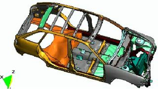 Ensayo de impacto y seguridad en automóviles. La simulación numérica permite complementar la experimentación mejorando la competitividad de los procesos industriales (Fuente CIMNE)