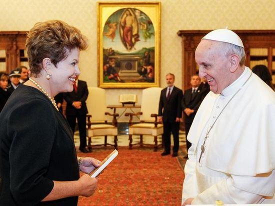 Dilma y el papa Francisco