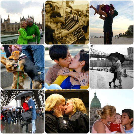 Collage besos ignacio