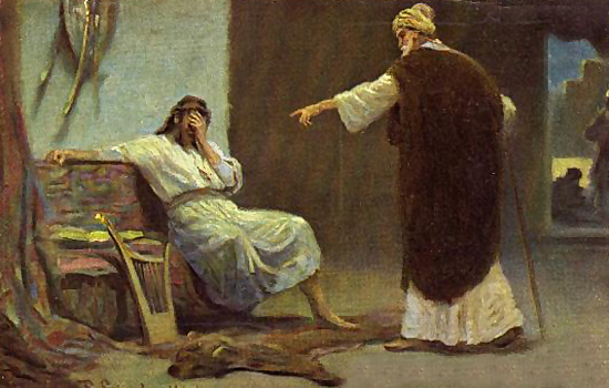 El rey David y el profeta Natan