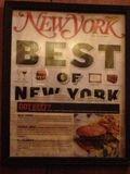 Cartel expuesto en Joint Burger