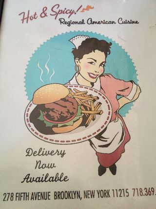Cartel retro expuesto en Pork Slope