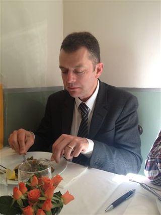 El danés John Sytmen, promotor de la Fundación para la defensa del café turco