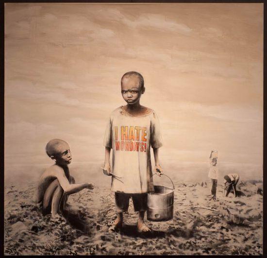 """'I Hate Mondays' es una pintura del Banksy, prolífico artista del 'street art' británico. En Free Mondays from Banksy for """"Art in the Streets"""" @MOCA."""