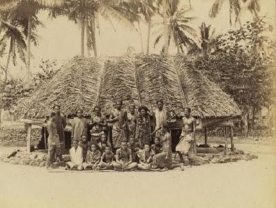 Samoanos visitados por el Papa Pablo VI