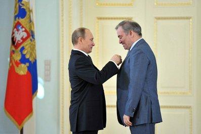Putin y Guerguiev, servicio de prensa del presidente de Rusia