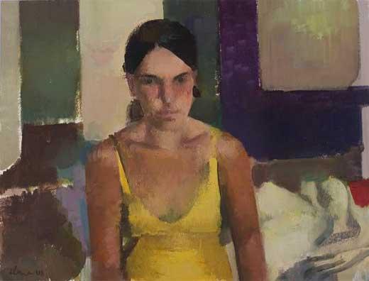 Elena Zolotnisky mujer de amarillo