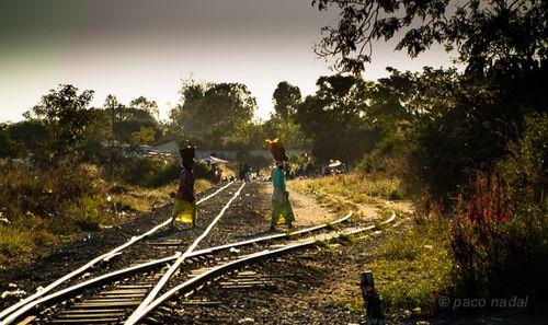 Vías tren en zimbabwe