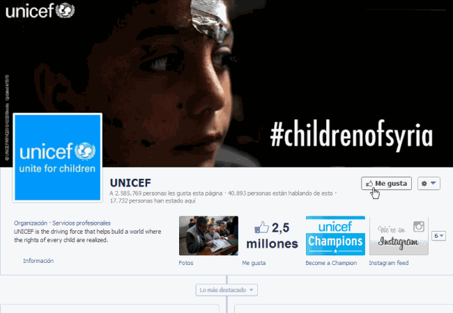 Unicef-polio-home Facebook