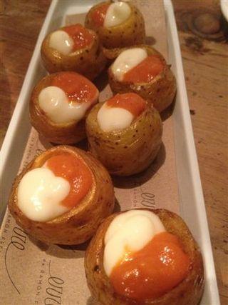 Patatas bravas con papas criollas