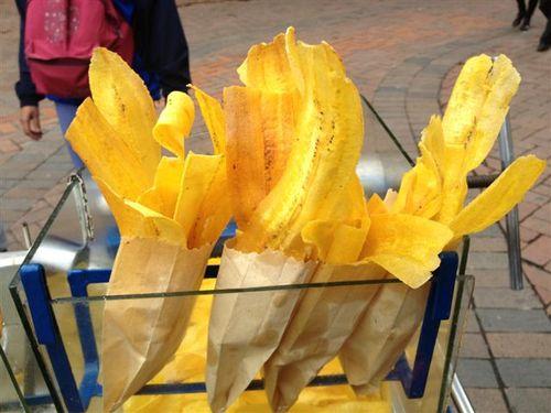 Bananos fritos, crujientes