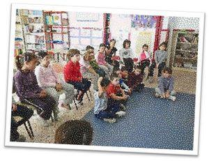 El grupo de aula estaba formado por siete niños y niñas de primer curso de educación primaria (6-7 años de edad) y quince de segundo curso (7-8 años),
