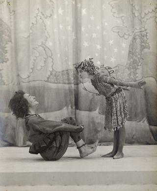 Oberon y Puck en su montaje del Savoy, en 1912