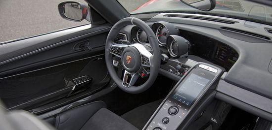 Porsche 918 Spyder puesto de conducción