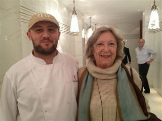El cocinero Dante Liporace con la famosa periodista gastronómica del Diario La Nación Alicia Delgado