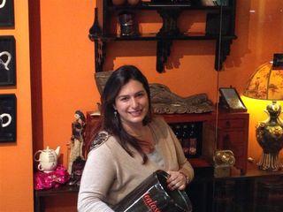 Inés Bertón en su tienda de Buenos Aires