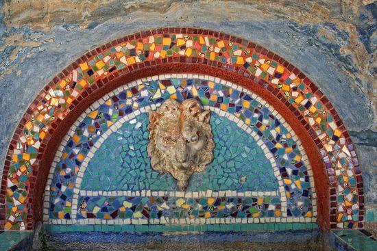 Fuente mosaico