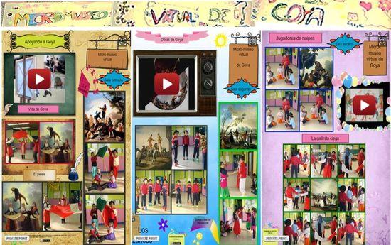 Murales digitales en 'Nuestro Museo Virtual de Goya'