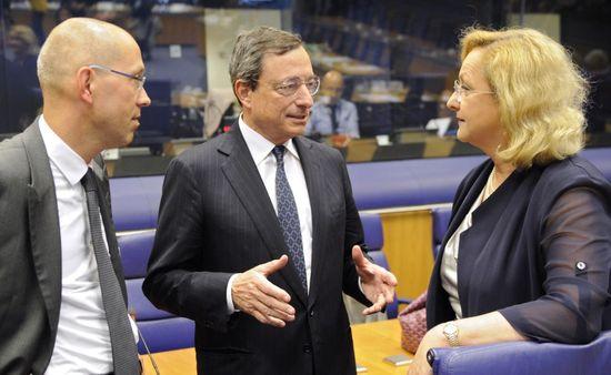 Draghi, en el Eurogrupo.