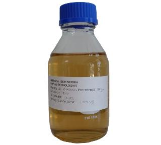 Muestra de bioetanol de la planta de Babilafuente