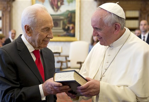 Papa Francisco y presidente de Israel