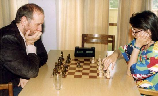 Bobby Fischer juega con Susan Polgar