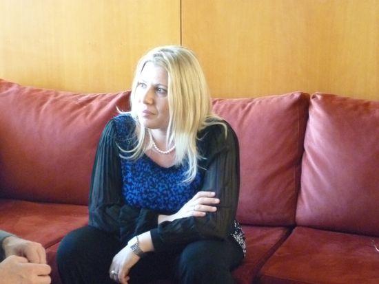 Susan Polgar durante la entrevista