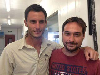 Con Miguel Ángel de la Cruz, gran cocinero, propietario de La Botica en Matapozuelos (Valladolid)