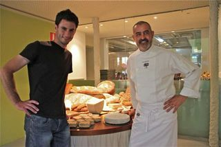 Juan Pablo Felipe con Rubén Valbuena