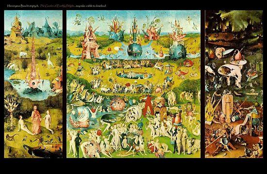 El Jardín de las Delicias: Hieronymus Bosch (El Bosco) hacia 1480-1490. Museo Nacional del Prado. Madrid