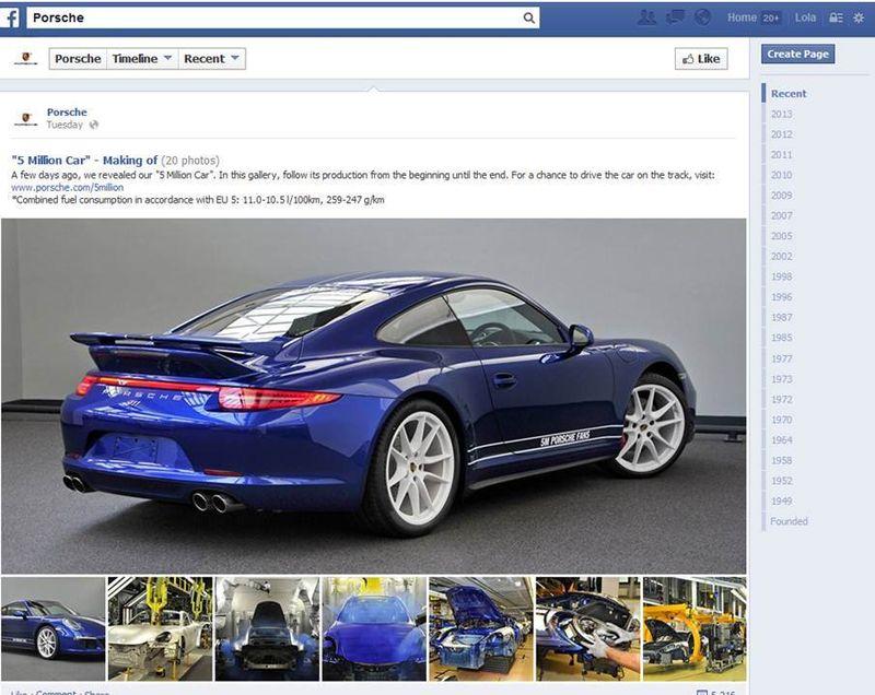 Porsche 911 en FB