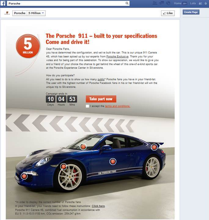 Porsche 911 5M anuncio en FB