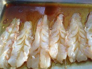 Gambas blancas templadas con yuzu y soja