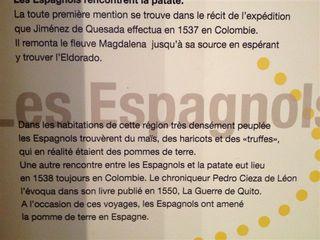 Alusión al encuentro de los españoles con las papas en Colombia, según el relato de Pedro de Cieza