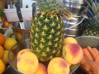 Frutas con las que elaboran zumos naturales al momento