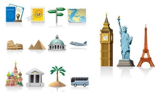 Iconos viaje