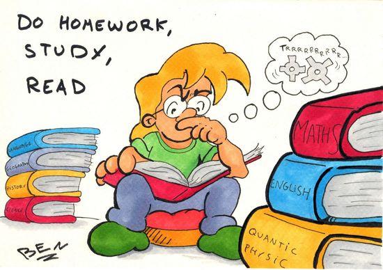 Deberes, estudiar, leer