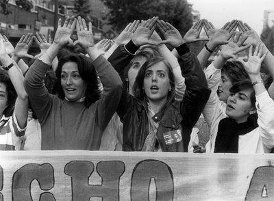 Manifestación pro aborto 1983 Raúl Cancio