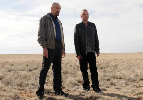 Bryan Cranston y Aaron Paul en Albuquerque