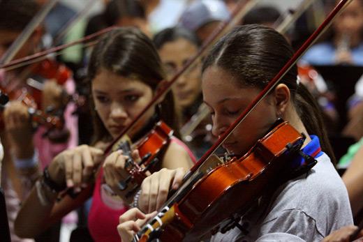 Jóvenes músicos venezolanos