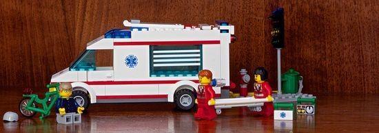 Accidente en bici de LEGO