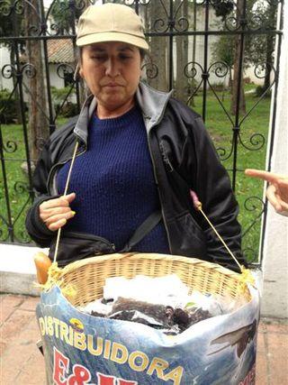 Vendedora de hormigas culonas