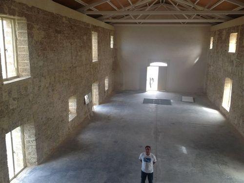Molino y almacén de sal de finales del XVI. Ángel León en primer plano