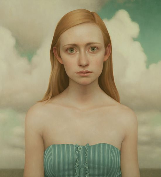 LU CONG: Tabitha #9, oil on panel, 36 x 40 inches, 2011. Gallery Henoch, New York, NY.