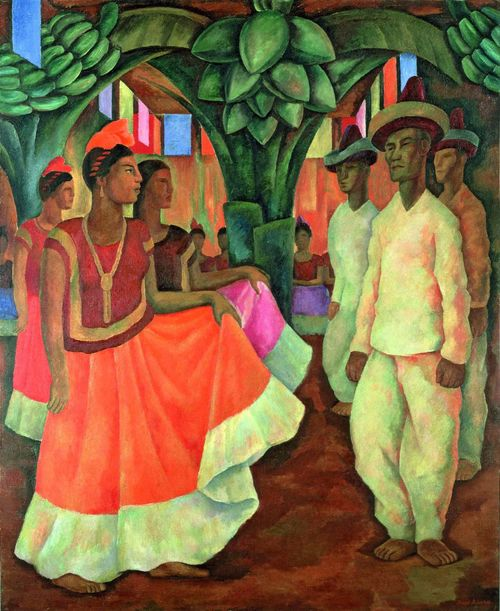 Baile en Tehuantepec', de Diego Rivera