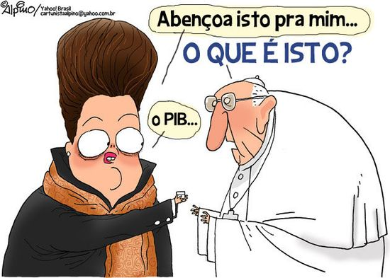 Viñetas del papa en Rio