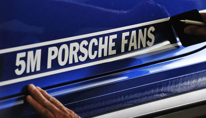 5M Porsche fans detalle nombre