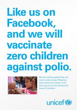 Unicef-polio Me gusta vale 0