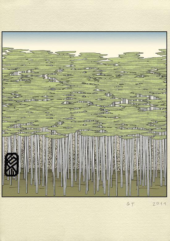 2 Dolina Kaniowa, dibujo perteneciente a la serie there there (Polonia, 2011)-1
