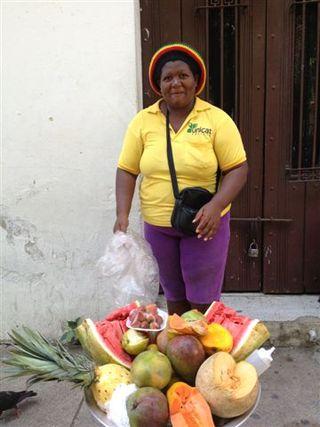 Otra vendedora de calle